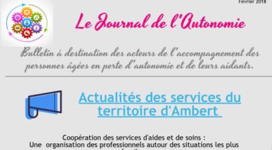 Le Journal de l'Autonomie Février 2018