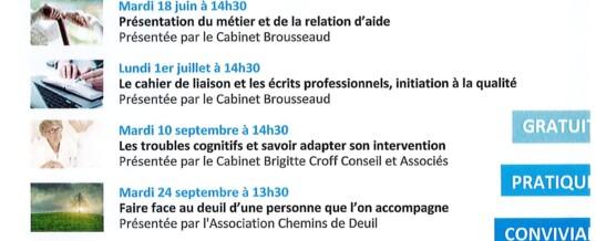 CONFERENCES EN LIGNE POUR LES AIDANTS PROFESSIONNELS